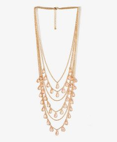 $8.80 Faceted Teardrop Chain Necklace | FOREVER21 - 1040435870