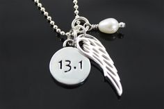 $70 Classic Wing & Race Necklace w/Pearl