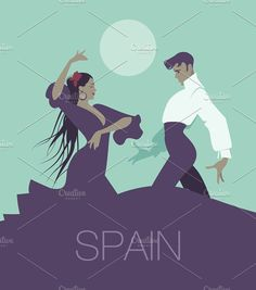 Couple of Flamenco dancers II by La Inspiratriz on @creativemarket