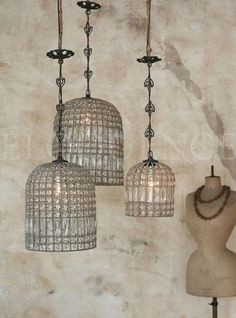 Eloquence, Inc. Reproduction Large Birdcage Chandelier