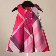 Yinggeli Little Baby Girls Long Sleeve Plaid Checked Princess Dress Years, A-Rose Red) Frocks For Girls, Baby Girl Frocks, Little Girl Dresses, Girls Dresses, Baby Dresses, Girls Frock Design, Baby Dress Design, Baby Girl Dress Patterns, Baby Frocks Designs