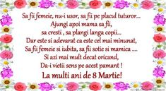 Poezie de 8 Martie Dad Birthday, Birthday Wishes, Birthday Cards, Happy Birthday, Happy Woman Day, Happy Women, 8 Martie, 8th Of March, Videos Funny