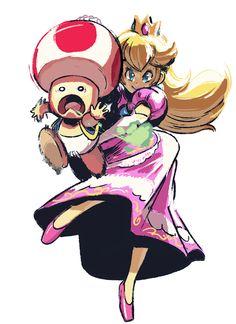 Here's a Princess Peach