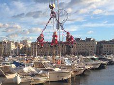 Vieux port #marseille #France #port #noel #boat #christmas