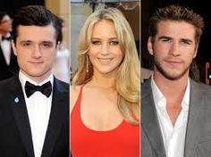 Josh Hutcherson, Jennifer Lawrence, and Liam Hemsworth