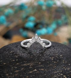 Curved Wedding Band, Diamond Wedding Bands, Bridal Bands, White Gold Wedding Rings, Salt And Pepper Diamond, Anniversary Bands, Vintage Rings, Heart Ring, Engagement Rings