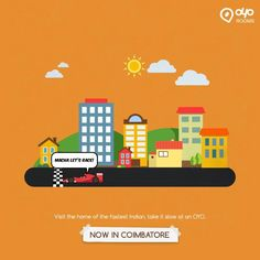 Whenever visit #Coimbatore, stay awesome with largest network of #BudgetHotelsinCoimbatore at OYO Rooms.