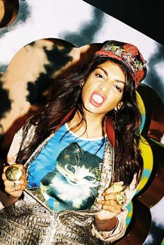 """""""Maya Arulpragasam, born Mathangi but known to the world as M.I.A., has never been one to stay in place too long. Even today, as a mega pop icon, she considers herself forever a refugee."""" M.I.A. @ the WILD Magazine"""