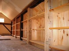 Attic storage Attic shelving