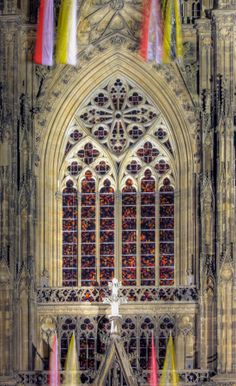 Abstract window in Kolner dom by Gerhard Richter