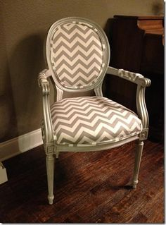 Urban Farmhouse: Chevron Stripe Chair Makeover