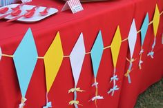 DIY Kite Banner - could integrate this into so many different party themes!