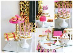 Party time! #party #idea #gold #black #casadasamigas
