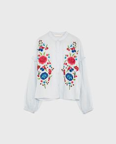 Image 8 of SHIRT WITH EMBROIDERED BIB from Zara