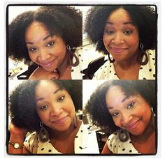Sometimes a wash and go is all you need @Celeste Rimple #teamnatural #naturalhair #naturallyluvly