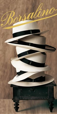Since 1857 Borsalino has been producing its famous fedoras in their factory in Alessandria, Italy.