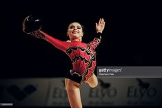 Alina Kabaeva from Russia performs with ball at the International tournament of Thiais. | Location: Thiais, France.