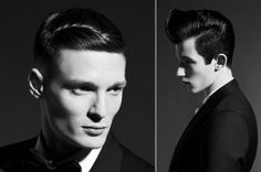 Vidal Sassoon mens cuts. timeless, classic, proper. Style damp hair with grooming cream and comb through.