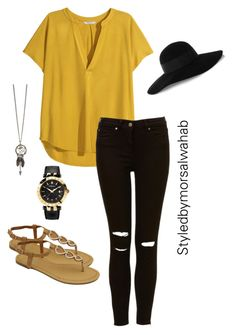 """""""Untitled #3"""" by morsalwahab ❤ liked on Polyvore featuring H&M, Eugenia Kim and Versace"""