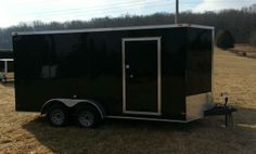 """2014 7x16 TANDEM AXLE VNOSE CARGO TRAILER 7' INTERIOR HEIGHT WITH REAR RAMP DOOR - $3850 16"""" on center floors 16"""" on center walls  LED LIGHTS 36"""" SIDE DOOR WITH RV FLUSH LOCK 3/4 PLYWOOD FLOOR, 3/8 PLYWOOD WALLS ROOF VENT, DOME LIGHT 24"""" DIAMOND PLATE STONE GUARD ON FRONT,  15"""" NEW TIRES with BREAKS ON ALL FOUR WHEELS 3 YEAR WARRANTY FINANCING NOW AVAILABLE. 0% for 6 months no money down 615-483-7397 $3650"""