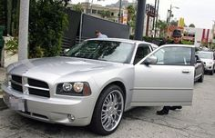 Jeremy was spotted getting into a silver Dodge Charger recently after having lunch with friends.