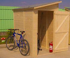 Abri mural range-vélos-scooters-motos avec porte latérale Ref. ED 1220.02