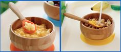 How adorable is this wooden bowl & spoon set!  Your baby will be eating in style.  #ProductSpotlight #Bowls #LillyPillyBaby