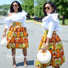 Its time to explore and check out some amazing Ankara skirt styles, you can pair them anyway as they make a statement on their own, African Print Skirt, African Print Dresses, African Fashion Dresses, African Dress, Ankara Fashion, African Outfits, African Clothes, African Inspired Fashion, African Print Fashion