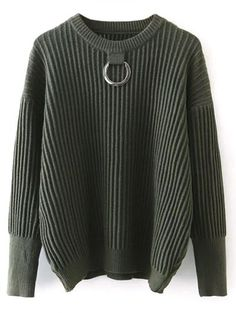 SHARE & Get it FREE | Metal Ring Ribbed Oversized SweaterFor Fashion Lovers only:80,000+ Items • New Arrivals Daily Join Zaful: Get YOUR $50 NOW!
