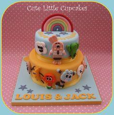 Amazing World of Gumball ~ joint 2 tier birthday cake.