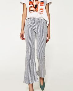 Image 2 of STRIPED TROUSERS from Zara