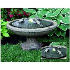 $484 Garden Frogs Oval Fountain