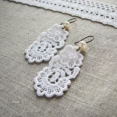 lace earrings by Lariata, via Flickr