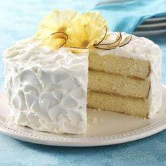 PINA COLADA Cake - Perfect summer desert. http://www.tasteofhome.com/Recipes/Pina-Colada-Cake