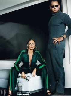Male Fashion Trends: Jennifer Lopez y Alex Rodriguez con una pareja de lujo para Vanity Fair