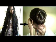 Updo's for very long hair - YouTube  /Her hair is way longer than mine but the techniques work for my long Locs