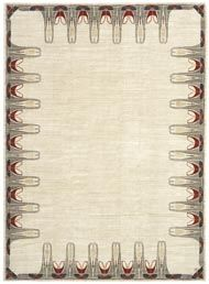 Rug in Arts and Crafts style by the french brand Parsua