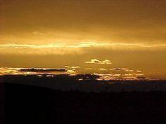 Golden sunset  as seen only in Flamingo Heights from Casa Cassbaugh
