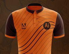 Football Shirts, New Work, Adobe Illustrator, Polo Shirt, Soccer, Behance, Concept, Gallery, Illustration