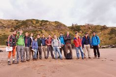 YPs Need Fieldwork - Members of Aberdeen's YP chapter bonded and learned during a field trip of Scotland's dramatic east coast by visiting localities in St. Cyrus and Stonehaven.