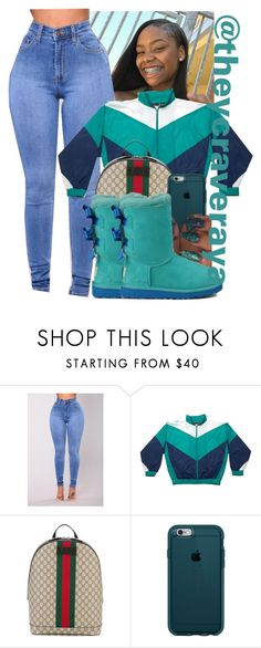 """""""~Ugg Contest"""" by theycraveraya ❤ liked on Polyvore featuring Dunlop, Gucci, Speck and UGG Australia"""