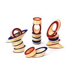 Totter Tower at Hape Toys- award winner- The intelligent design of this product uses bamboo rings to form very unique building blocks. The distinct angle of the bamboo creates endless possibilities for building exciting shapes and structures. Bamboo Art, Bamboo Crafts, Bamboo Ideas, Hape Toys, Bamboo Building, Unique Buildings, Intelligent Design, Creative Play, Wooden Blocks