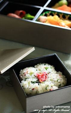 Japanese bento box ..I love bento boxes.. they are so yummy ...no recipe but still yummy