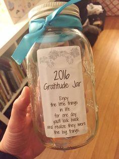 Gratitude Jar for 2016
