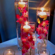 Floating candles!  SHE is inspired by these breathtaking #centerpieces.
