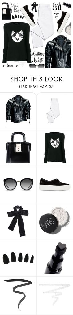 """Cool-Girl Style: Leather Jackets"" by tinkabella222 ❤ liked on Polyvore featuring Leka, Tory Burch, Dsquared2, Frankie Morello, Dolce&Gabbana, Charlotte Olympia, Miss Selfridge, Marc Jacobs, Burberry and leatherjackets"