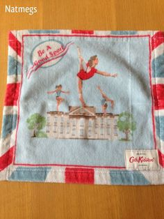 BE A GOOD SPORT CATH KIDSTON COTTON WASH CLOTH / FLANNEL~FREE POST UK