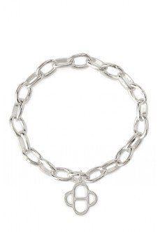 Signature Link Charm Bracelet - Silver