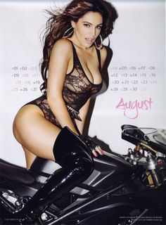 Kelly-Brook  #Sexy #Chicks & #Cool #Bikes