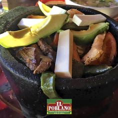 Try today our Molcajete Poblano!! #ElPoblano #MexicanRestaurant #molcajete #mexicanFood #WhitePlains